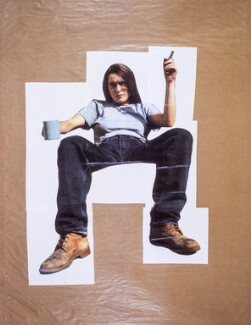 Sarah Lucas ('Self-Portrait with Mug of Tea'), by Sarah Lucas, 1993 - NPG P884(3) - © Sarah Lucas