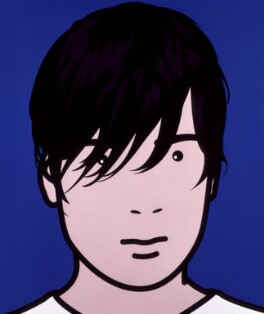 Alex James, by Julian Opie, 2000 - NPG  - © Julian Opie / DACS; Given by The Art Fund, 2001