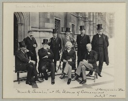 Mark Twain at the House of Commons, by Benjamin Stone - NPG x89001