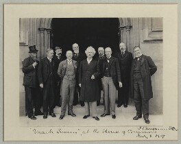 Mark Twain at the House of Commons, by Benjamin Stone - NPG x89002