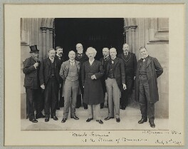 Mark Twain at the House of Commons, by Sir (John) Benjamin Stone, 2 July 1907 - NPG x89003 - © National Portrait Gallery, London