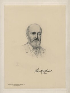 Sir Robert George Wyndham Herbert, by The Autotype Company, after  Henry Tanworth Wells - NPG D11165