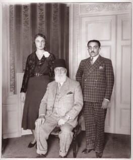Princess Dürrühsehvar, Princess of Berar; Caliph Abdulmecid Khan II of Turkey; Nawab Azam Jah, Prince of Berar, by Vandyk - NPG x130787