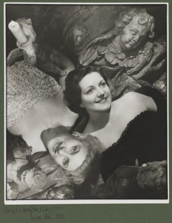 Hermione Gingold; Hermione Baddeley, by Angus McBean - NPG P896
