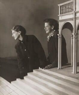 Audrey Sophia Harris (Mrs George Devine); Percy Harris, by Angus McBean - NPG P898
