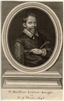 Sir Matthew Lister, by Paul van Somer - NPG D11204