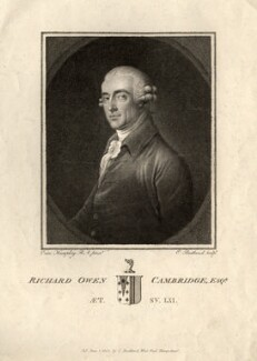 Richard Owen Cambridge, by and published by Charles (Cantelowe, Cantlo) Bestland, after  Ozias Humphry - NPG D11210