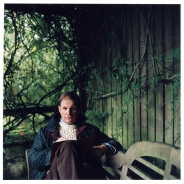 Michael Andrew Bridge Morpurgo, by Cinnamon Faye, October 2001 - NPG  - © Cinnamon Faye