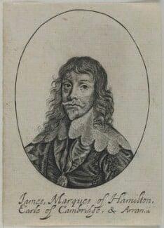 James Hamilton, 1st Duke of Hamilton, possibly by William Faithorne, after  Sir Anthony van Dyck - NPG D22764