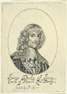 James Stuart, 1st Duke of Richmond and 4th Duke of Lennox, probably by William Faithorne, published by  Peter Stent, after  Sir Anthony van Dyck - NPG D22919