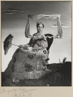 Pamela Stanley (Lady Cunynghame) as Queen Victoria in 'Victoria Regina', by Angus McBean - NPG P926