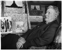 L.S. Lowry, by Sefton Samuels, 1968 - NPG x29881 - © Sefton Samuels / National Portrait Gallery, London