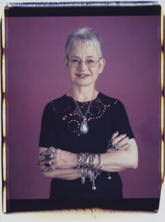 Dame Jacqueline Wilson (née Aitken), by Maud Sulter, 2001 - NPG  - © National Portrait Gallery, London