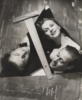 Anton Walbrook (Adolf Wohlbruck); Diana Wynyard; Rex Harrison, by Angus McBean - NPG P929
