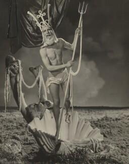 Angus McBean as Neptune, by Angus McBean, 1939 - NPG P932 - © estate of Angus McBean / National Portrait Gallery, London