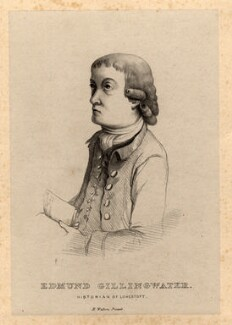Edmund Gillingwater, by Harriet Gunn (née Turner), after  Henry Walton - NPG D11246