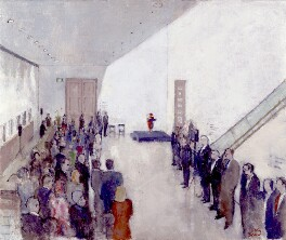 Opening of the Ondaatje Wing, National Portrait Gallery, in the Presence of Queen Elizabeth II, 4 May 2000, by John Stanton Ward - NPG 6601