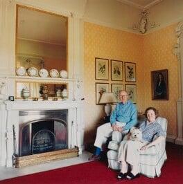 Sir Hugh Ashley Roberts; Jane Roberts, by Lucy Anne Dickens - NPG P948(34)