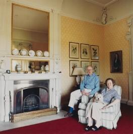 Sir Hugh Ashley Roberts; (Priscilla) Jane Stephanie (née Low), Lady Roberts, by Lucy Anne Dickens - NPG P948(34)