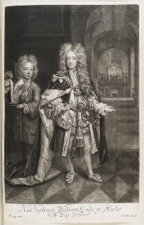 Benjamin Bathurst; William, Duke of Gloucester, by and published by John Smith, after  Thomas Murray, 1697 (1696) - NPG  - © National Portrait Gallery, London