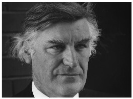 Ted Hughes, by Anne-Katrin Purkiss, July 1990 - NPG x36185 - © National Portrait Gallery, London
