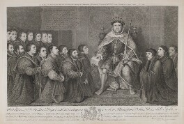 Henry VIII Presenting a Charter to the Barber Surgeons Company, by Bernard Baron, after  Hans Holbein the Younger - NPG D11098