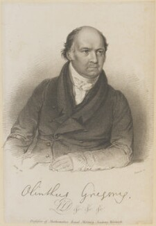 Olinthus Gilbert Gregory, by Thomson, after  William Derby - NPG D11263