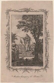 Boadicea Haranguing the Britons (called Boudicca, or Boadicea), by Samuel Wale, after  John Hall - NPG D11264