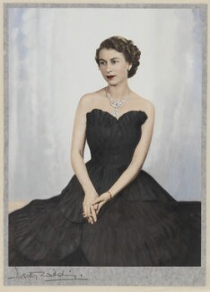 Queen Elizabeth II, by Dorothy Wilding, hand-coloured by  Beatrice Johnson - NPG x34840