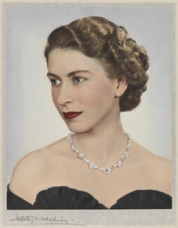Queen Elizabeth II, by Dorothy Wilding, hand-coloured by  Beatrice Johnson - NPG x34847