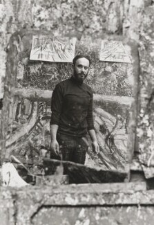 Leon Kossoff, by Bob Collins, 1972 - NPG  - © estate of Bob Collins / National Portrait Gallery, London