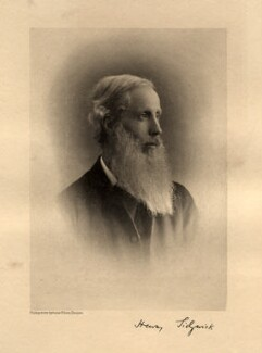 Henry Sidgwick, by Eveleen Myers (née Tennant), printed by  T. & R. Annan & Sons - NPG Ax68604