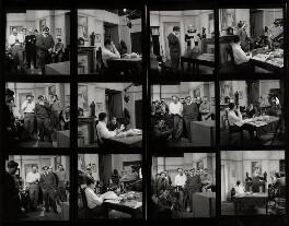 Sid James; Tony Hancock; and crew of 'Hancock', by Bob Collins, 1959 - NPG x36043 - © estate of Bob Collins / National Portrait Gallery, London