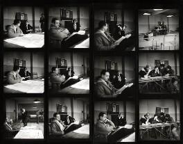 Sid James; Tony Hancock; the cast and crew of 'Hancock', by Bob Collins, 1959 - NPG x125127 - © estate of Bob Collins / National Portrait Gallery, London