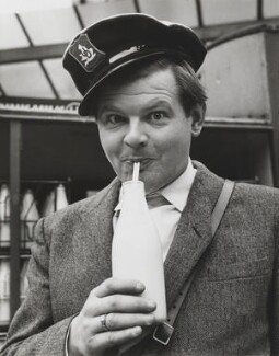 Benny Hill, by Bob Collins, 1958 - NPG  - © estate of Bob Collins / National Portrait Gallery, London