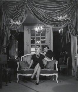 Leslie Caron; Sir Peter Hall, by Lewis Morley - NPG x38908
