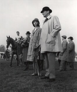 Jean Shrimpton; Chris Powell and eight unknown sitters, by Lewis Morley - NPG x38918