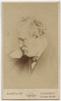 Robert Browning, by Elliott & Fry, 1860s - NPG x4824 - © National Portrait Gallery, London