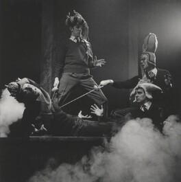 Beyond the Fringe (Jonathan Miller; Peter Edward Cook; Dudley Moore; Alan Bennett), by Lewis Morley - NPG x38939