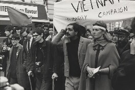Anti-Vietnam War demonstrators, including Tariq Ali and Vanessa Redgrave, by Lewis Morley - NPG x38958