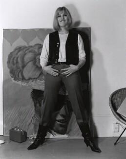 Pauline Boty, by Lewis Morley, 1963 - NPG x76915 - © Lewis Morley Archive / National Portrait Gallery, London
