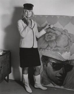 Pauline Boty, by Lewis Morley, 1963 - NPG x76916 - © Lewis Morley Archive / National Portrait Gallery, London