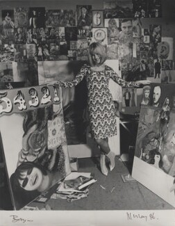 Pauline Boty, by Lewis Morley, September 1963 - NPG  - © Lewis Morley Archive