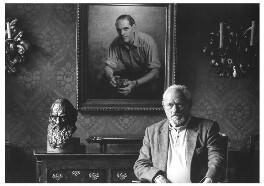 Harry Andrews, by Lou Boileau - NPG x125146