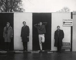 Beyond the Fringe (Alan Bennett; Peter Cook; Jonathan Miller; Dudley Moore), by Lewis Morley - NPG x44845