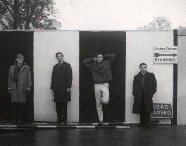 Beyond the Fringe (Alan Bennett; Peter Edward Cook; Jonathan Miller; Dudley Moore), by Lewis Morley, 1961 - NPG x44845 - © Lewis Morley Archive / National Portrait Gallery, London