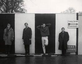 Beyond the Fringe (Alan Bennett; Peter Edward Cook; Jonathan Miller; Dudley Moore), by Lewis Morley - NPG x44845