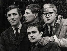 Beyond the Fringe (Peter Cook; Jonathan Miller; Dudley Moore; Alan Bennett), by Lewis Morley - NPG x27384