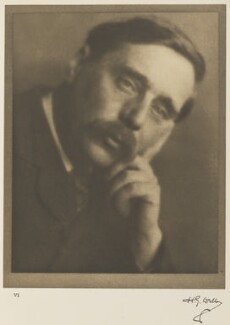 H.G. Wells, by Alvin Langdon Coburn, 2 November 1905 - NPG Ax7773 - © The Universal Order