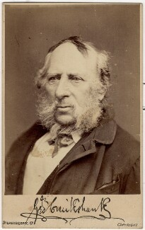 George Cruikshank, by London Stereoscopic & Photographic Company - NPG x7058